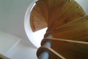 Scale a chiocciola a pianta tonda - Progetto Casa Racale Lecce