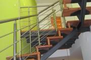 Scala a giorno Monotrave con gradini in legno - Progetto Casa - Lecce - Racale
