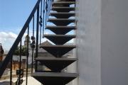 Scala Esterna in ferro battuto con gradini in Marmo - Progetto Casa - Lecce - Racale